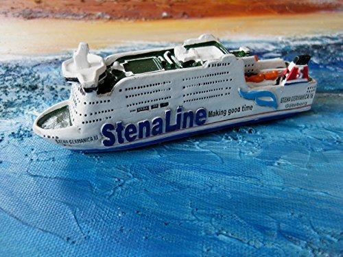 Modelo del buque MS Stena Germanica 3 enanos cálida aprox 12 cm Stena Line