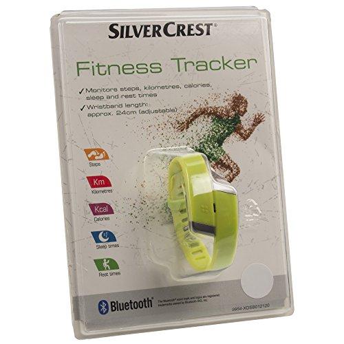 Silver Crest Fitness-Tracker, überwacht Schritte, Kilometer, Kalorien, Schlaf- und Ruhezeiten.