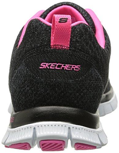 Skechers  Flex AppealSimply Sweet, Sneakers Basses femme noir (BKHP)