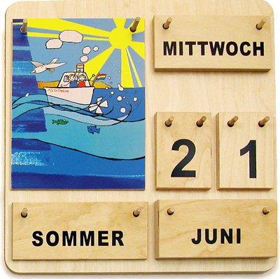 """Kalender aus Holz """"Karl und Kathrinchen"""" (deutsche Ausführung)"""
