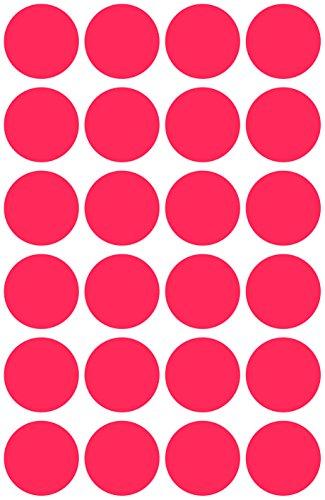 Avery 3595 Círculo Rojo 416pieza(s) - Etiqueta autoadhesiva (Rojo, Círculo, Papel, 1,8 cm, 416 pieza(s), 104 pieza(s))