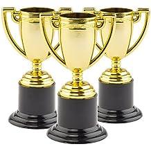 Trofei Dorati Perfetti da Regalare alle Feste dei Bambini per Giocarci (confezione da 6)