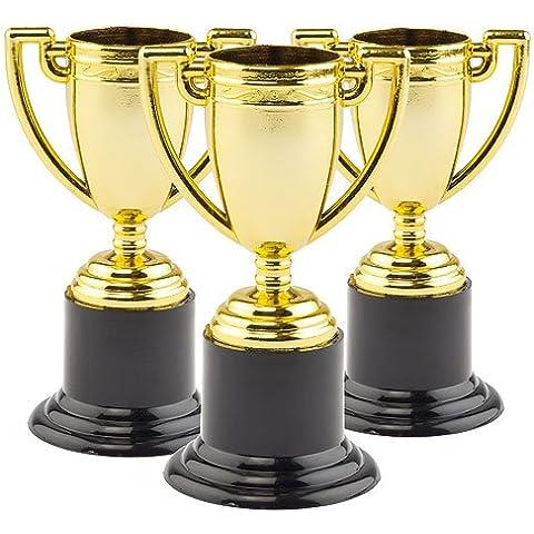 Mini Trofeos de oro para niños - bolsa de relleno para piñatas (pack de 6)