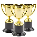 Gold-Trophäen - Auszeichnung - Spielzeug für Kinder als Mitgebsel und Preis beim Kindergeburtstag - 6 Stück