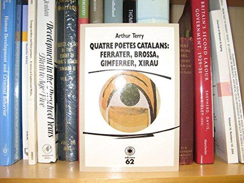 Quatre poetes catalans: Ferrater, Brossa,Gimferrer, Xirau