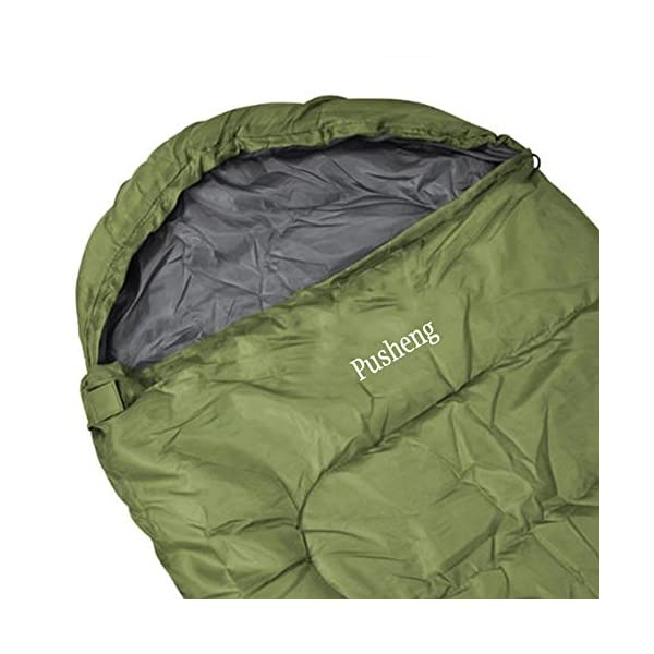 Pusheng Sleeping Bag - Envelope Lightweight Portable, Waterproof, Comfort With Compression Sack, Great For Traveling, Camping, Hiking, Outdoor Activities 2