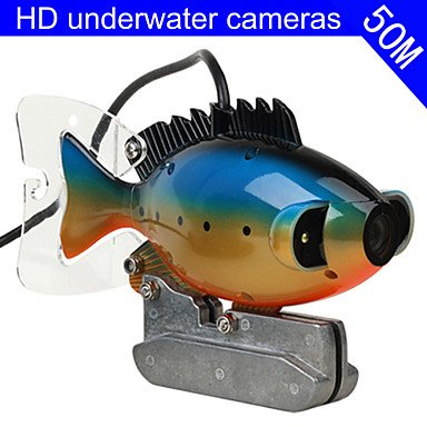 JIA&YOU Fish Finder Underwater Camera 50m Cable CCD Color Camera Underwater Video Fishing Camera 3W