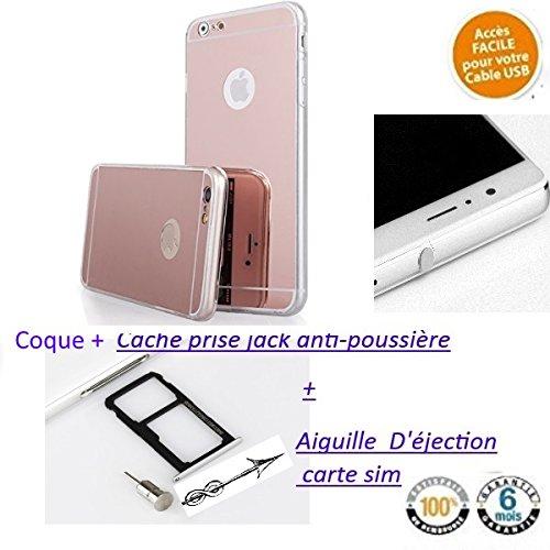 c003a450aa8 Coque pour Apple iPhone SE 5SE 5 5S,Ultra Mince miroir Housse Coque Or rose