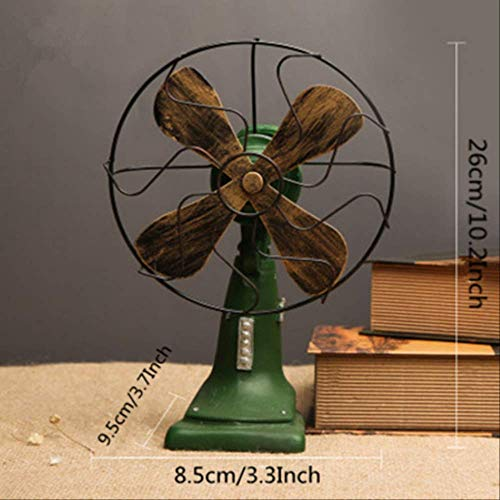 FMWLKJ Figuras de Ventilador eléctrico de Resina Adornos nostálgicos de Estilo Industrial...