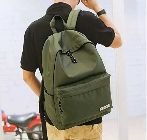 Slim Laptop Rucksack Lightweight Rucksack School Book Taschen Green