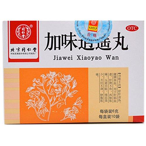 Tong Wan (Jia Wei Xiao Yao Wan (Happy Pills) (6g* 10 bags) JiaWei XiaoYao Wan Pack of 3)