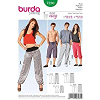 Burda Schnittmuster 7230 Hose, Pantalon, Pants f?r Sie & Ihn Gr. 32-46 & 44-58
