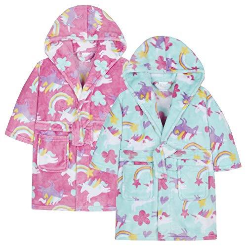 Albornoz superbonito para niñas con estampado de unicornios Unicorn bluey Talla:5-6yrs