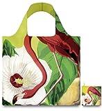 LOQI BO.FL Shopping Bag with Botany Flamingo Design