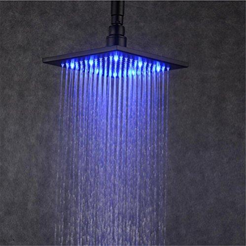 Preisvergleich Produktbild HomJo Badezimmer 8 Zoll Regenfall Top Duschkopf mit Wand montiert Wasserfall Dusche reine schwarze Farbe
