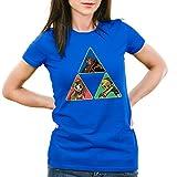 CottonCloud Triforce Link Damen T-Shirt Gamer Hyrule, Farbe:Blau;Größe:S
