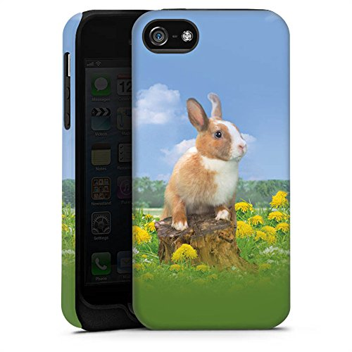 Apple iPhone X Silikon Hülle Case Schutzhülle Häschen Hase Kaninchen Tough Case matt
