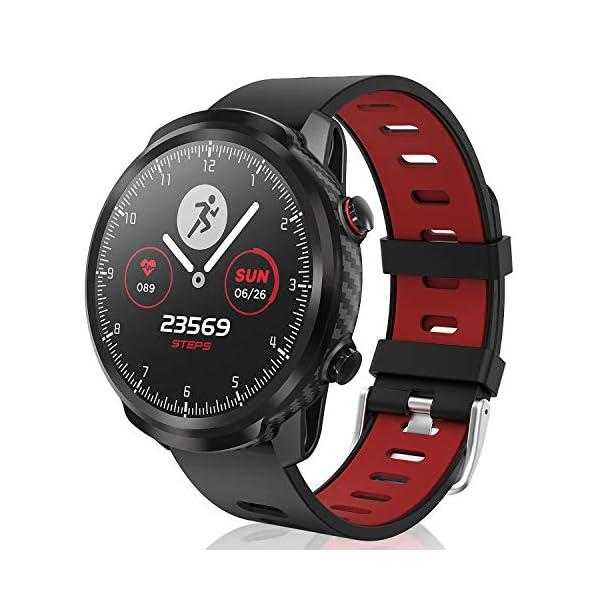 CatShin Smart Watch Tracker de Actividad, Pantalla táctil smartwatch Fitness Tracker, Reloj Deportivo Bluetooth IP67 a Prueba de Agua con Monitor de frecuencia cardíaca, Compatible con Android iOS 1