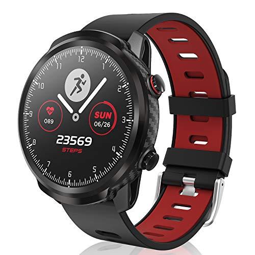 CatShin Smart Watch, Fitness-Tracker Touchscreen Smart Watch wasserdichte Uhr mit Herzfrequenzmesser Schrittzähler Schlafmonitor Stoppuhr für Männer und Frauen kompatibel mit Android iOS (red)