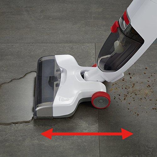 Severin Sc 7148, Lava-Asciuga Pavimenti senza Fili, Batteria High-Performance, 3 Spazzole in Dotazione, 2 Velocità