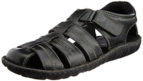 Hush Puppies Men's Hm-Fisherman Black Athletic and Outdoor Sandals - 8 UK/India (42 EU) (8646902)