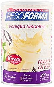 Pesoforma Smoothie Pasti Sostitutivi Dimagranti Shake Vaniglia, Ricco in Fibre, SOLO 201 Kcal per pasto - 16 P