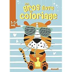 Mon gros livre de coloriage (Tigre avec lunettes)