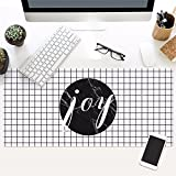 @A Office Schwarze Und Weiße Nordic Marmor Spiel Mouse Pad Precision Control Spezielle Verarbeitung Textur Weben Geeignet Für Jede Maus Tastatur Und Notebook, Nordic 2.400 X 900 Mm X 3 Mm