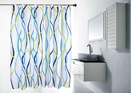 Soggiorno tende tende camera da letto disegno ondulato in poliestere  ispessimento tenda della doccia tende Bagno tenda della doccia bagno  impermeabili ...