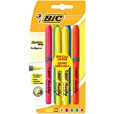 BIC Highlighter Grip Surligneurs - Couleurs Fluo Assorties, Blister de 6