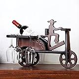 BEIQI Wein der Europäischen kreativen Warenkorb Weinregal Holz Glas Rahmen Office Home Bar Dekorationen Business Schwingen in der Führung der Seniors Geschenk Dreirad Wine Rack