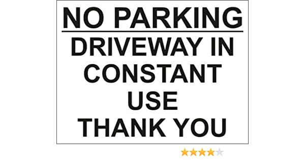 . DPR PBW 30cm x 20cm Private NO Parking Sign