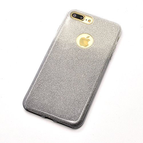 Sunroyal iPhone 7 Plus Bling Laser Sparkling Premium Shining Bling Sparkle Glitter Kristall Crystal Hülle Transparent Durchsichtig Bumper Rahmen TPU Weich Bling Case / Hülle / Tasche Etui Schutzhülle  Pattern 08