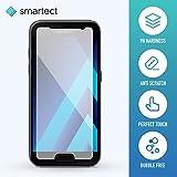 smartect® Samsung Galaxy A3 [2017] Premium Panzerglas [Bewusst kleiner als das Display] Display-Schutzfolie aus gehärtetem Tempered Glass   Gorilla-Glas mit Härtegrad 9H   Panzerfolie - Top-Schutzglas