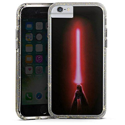 Apple iPhone 6 Plus Bumper Hülle Bumper Case Glitzer Hülle Star Wars Merchandising Pour Supporters Merchandise Fanartikel Bumper Case Glitzer gold