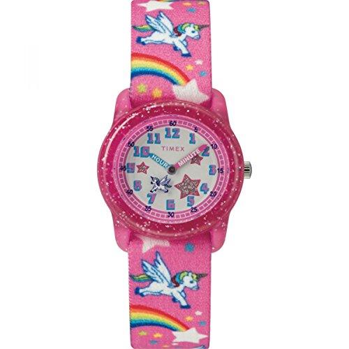 Timex Mädchen Analog Quarz Uhr mit Nylon Armband TW7C25500