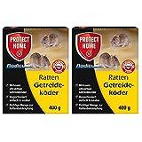 SBM Protect Home GARDOPIA Sparpaket: 2 x 400g Rodicum Ratten Getreideköder + Gardopia Zeckenzange mit Lupe