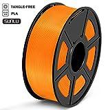 SUNLU Filamento PLA 1.75, Stampante 3D PLA Filamento 1kg Spool Tolleranza del diametro +/- 0,02 mm,PLA Trasparente