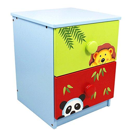 rens Sunny SafariHolz-Nachttisch mit 2 Schubladen TD-0100A ()