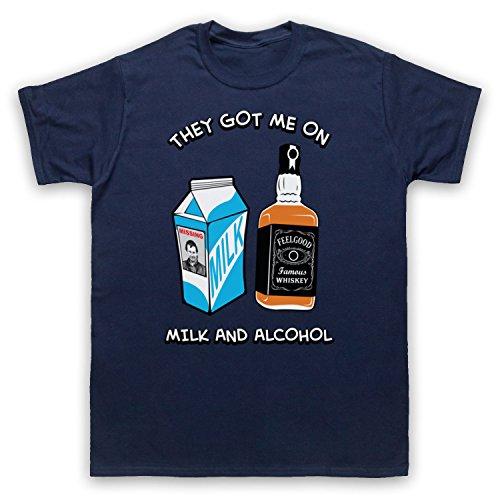Inspiriert durch Dr Feelgood Milk & Alcohol Unofficial Herren T-Shirt Ultramarinblau