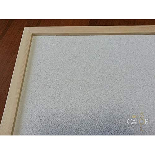 51djDT46WmL. SS500  - Energy saving, modern Infrared heating Panel (Natural Pine frame, 400 W)