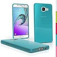 igadgitz Solide Bleu Brillant Etui Housse Coque Gel TPU pour Samsung Galaxy A5 SM-A510 2016 Case Cover + Film de Protection