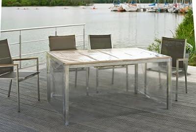 Eigbrecht 142189 Klarsicht Abdeckhaube Schutzhülle mit Abhang für Tischplatten 180x95x70cm