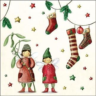 ambiente Servilletas de papel–Servilletas Almuerzo/Fiesta/aprox. 33x 33cm Christmas Fairies–Navidad–Ideal como regalo y mesa de decoración