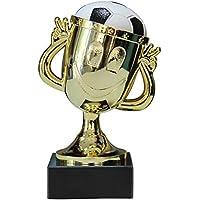 Pokal Kinder Fußball Smiley Gold 12cm hoch