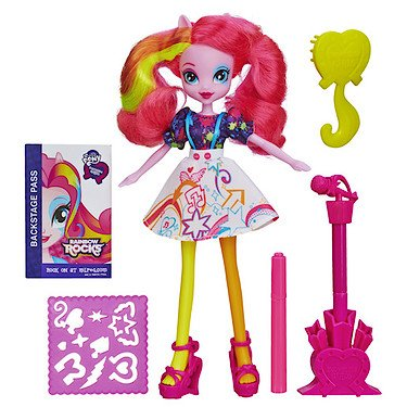Hasbro – My Little Pony – Rainbow Rocks Equestria Girls Deluxe Puppe - Pinkie Pie [UK (Equestria Kostüme Girls)