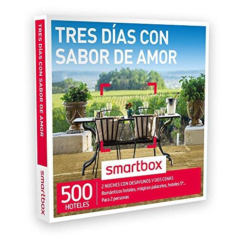 SMARTBOX – Caja Regalo – TRES DÍAS CON SABOR DE AMOR – 500 románticos hoteles, palacetes, hoteles 5* en España, Andorra, Portugal y Francia