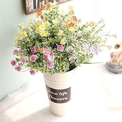 vijTIAN Ramo de Flores Artificiales de crisantemo Silvestre para decoración del hogar, Ideal para decoración de Bodas, Fiestas, decoración del hogar y jardín, Oficina, cafetería, casa
