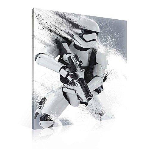 Star Wars Sturmtruppler Leinwand Bilder (PPD1930O1FW) - Wallsticker Warehouse - Size O1 - 100cm x 75cm - 230g/m2 Canvas - 1 Piece