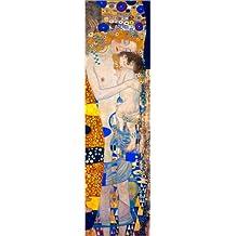 Cuadro sobre lienzo 30 x 110 cm: Mother with child de Gustav Klimt - cuadro terminado, cuadro sobre bastidor, lámina terminada sobre lienzo auténtico, impresión en lienzo
